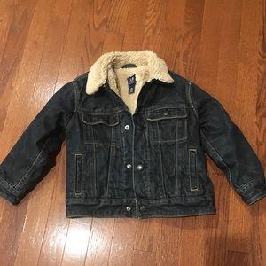 Gap Kids Sherpa Denim Jacket Size XS (4-5)